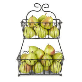 Pfaltzgraff® 2-Tier Black Fruit Basket view 1