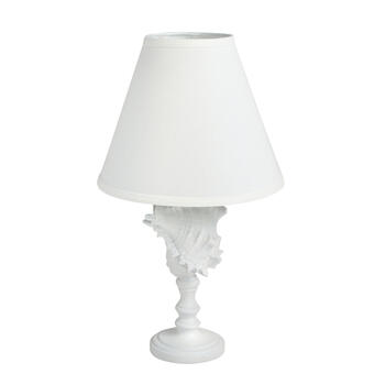 "20"" White Coastal Conch Shell Table Lamp view 1"