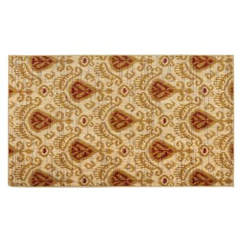 3'x5' Mohawk Home Beige/Red Damask Wool Accent Rug