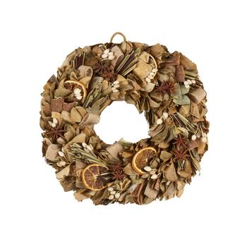"11"" Orange-Scent Potpourri Wreath"