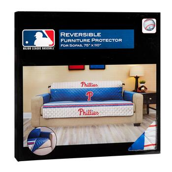 MLB Philadelphia Phillies Reversible Sofa Cover