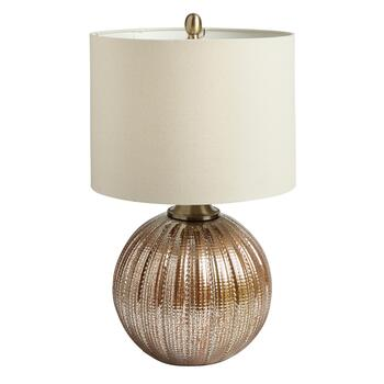 "23"" Antique Glass Ball Base Table Lamp"