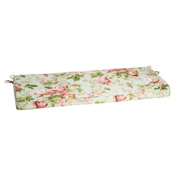 Waverly® Pink Floral Indoor/Outdoor Bench Seat Pad