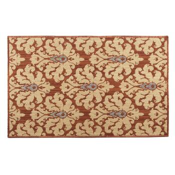 "28""x46"" Copper Damask Accent Rug"