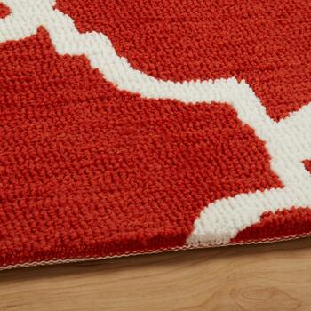 8'x10' Red Geo Microfiber Area Rug view 2