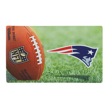 NFL New England Patriots High-Definition Rubber Door Mat view 1