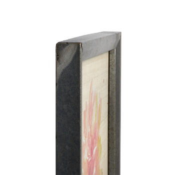 "16"" Painted Flower Metal Framed Square Wall Art view 2"