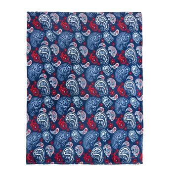 Red/White/Blue Paisley Throw Blanket