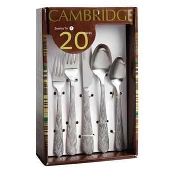 Cambridge® Platano Satin Leaf Flatware Set, 20-Piece view 2