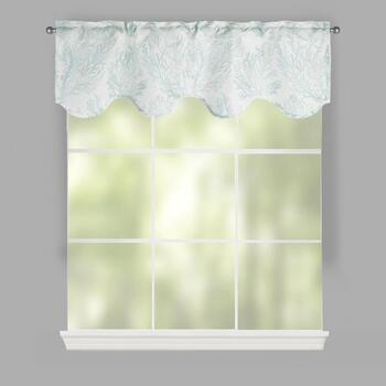 "50""x16"" Corla Scalloped Window Valances, Set of 2"