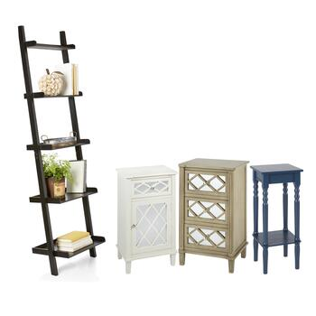Ladder Bookcase, Cabinets & Tables