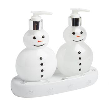Snowman Soap & Lotion Dispenser Caddy