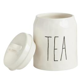 """Tea"" Ceramic Canister with Lid"