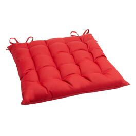 Solid Red Indoor/Outdoor Tufted Square Seat Pad