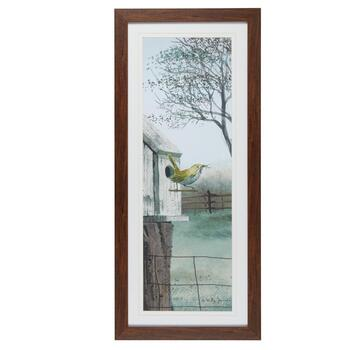 "19""x43"" Scenic Bird Matted Wall Decor"