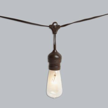 30' Edison-Style Industrial Indoor/Outdoor String Lights view 2