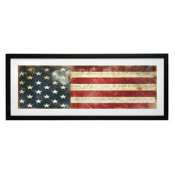 "15""x39"" ""Pledge of Allegiance"" Flag Framed Wall Decor"