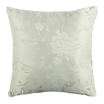Solid Floral Jacquard Throw Pillow