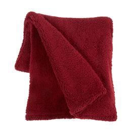 Flannel Rooster™ Solid Sherpa Throw Blanket