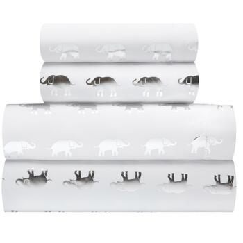 Silver Foil Elephant Sheet Set
