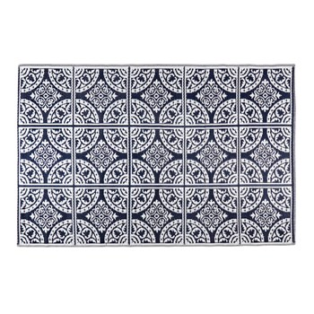 Patio Mat Navy 4x6 B view 1