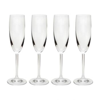 6-oz. European Flute Glasses, Set of 4