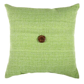 Kiwi Indoor/Outdoor Square Throw Pillow with Button