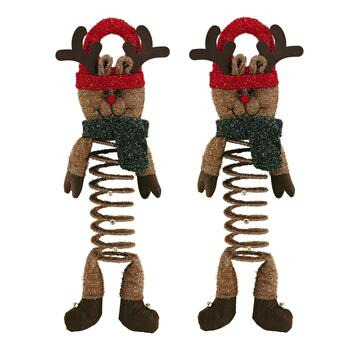 Reindeer Bouncy Door Hangers, Set of 2