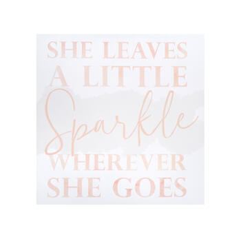 "20"" ""Sparkle Wherever She Goes"" Canvas Wall Decor view 1"