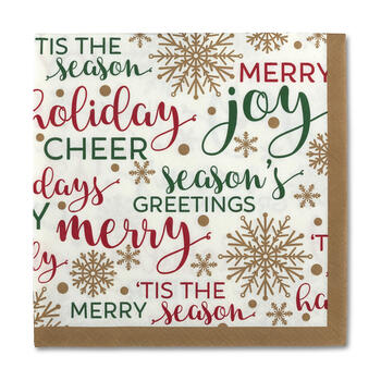 Christmas Sayings Bar Napkins, 36-Count view 1