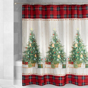 Christmas Trees Shower Curtain view 1