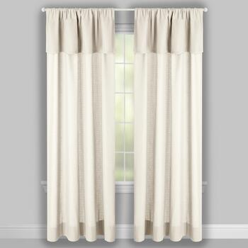 "96"" Valance-Attached Window Curtains, Set of 2 view 2"