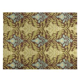 Brown Ivory Circular Trellis Hand Hooked Area Rug