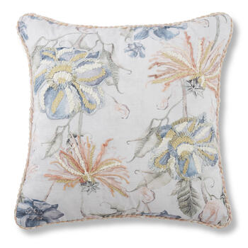"Petal and Stone™ 18"" x 18"" Pink Floral Throw Pillow view 1"