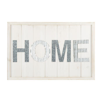 "20""x30"" The Grainhouse™ ""Home"" White Wall Decor view 1"