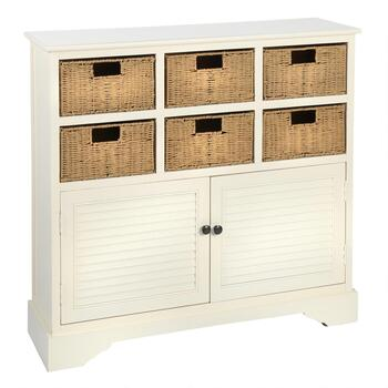 Severen 6-Basket/2-Door Storage Cabinet
