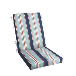 Alfresco™ Blue Striped Indoor/Outdoor Hinged Chair Pad