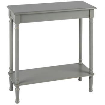 "29"" Hourglass Legs Rectangular Console Table with Shelf"