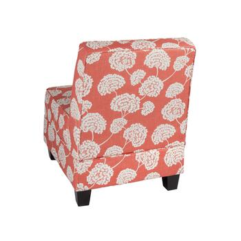 Milan Coral Toile Upholstered Accent Chair view 2