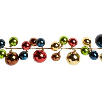 6' Multicolor Shatterproof Ornaments Vine Garland