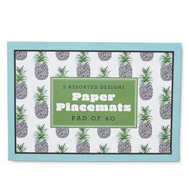 Black & White Pineapples Paper Placemats view 1
