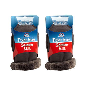Blizzard King™ Polar Bear Ice Scraper Mitts, Set of 2 view 1