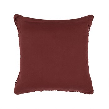 "The Grainhouse™ 18"" Red Macramé Square Throw Pillow view 2"