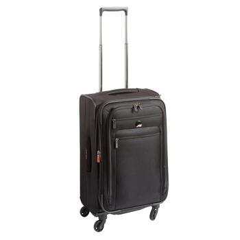 "Delsey® 25"" Black Rolling Trolley Tote"