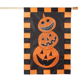 "28""x40"" Pumpkin Trio Yard Flag"