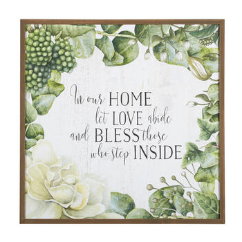 "The Grainhouse™ 30"" ""In Our Home"" Square Framed Wall Decor view 1"