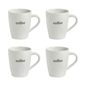 "The Grainhouse™ ""Coffee"" Mugs, Set of 4"