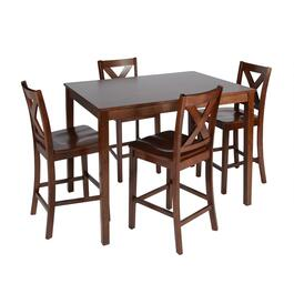 X-Back Dining Table and Chairs Set, 5-Piece