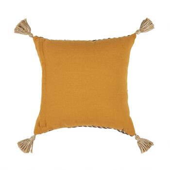 "The Grainhouse™ 20"" Linear Geo Tassel Square Throw Pillow view 2"