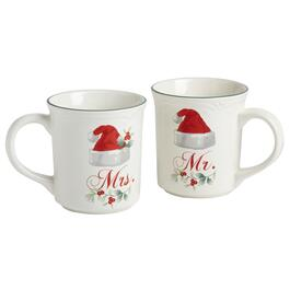 Pfaltzgraff® Winterberry Mr. & Mrs. Mugs Set